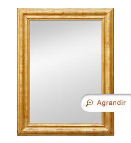 Miroir d'époque Louis-Philippe doré patiné