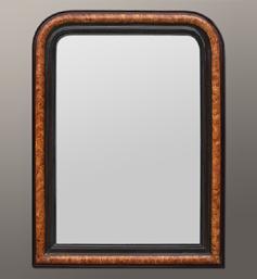 Miroir imitation bois style Louis Philippe