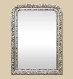miroir-louis-philippe-argente-patine-decoration-art-nouveau