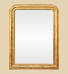 miroir-louis-philippe-dore-ancien-perles