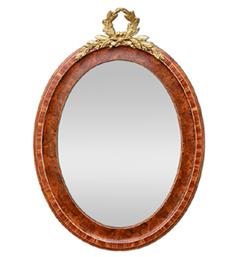 miroir-ovale-ancien-imitation-bois-de-rose-bois-de-loupe