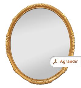 Petit miroir ovale bois doré style Montparnasse