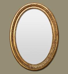 Miroir ovale bois doré style napoléon III