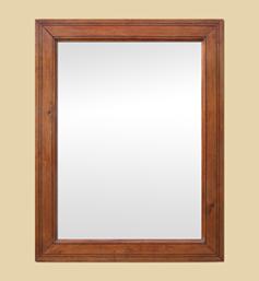 Miroir pitchpin bois ancien filets noir