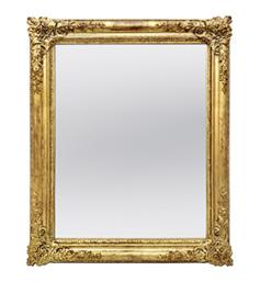 miroir-romantique-dore-1830-ancien