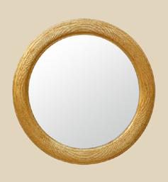 Miroir dor miroirs anciens bois dor s miroirs anciens for Miroir dore rond