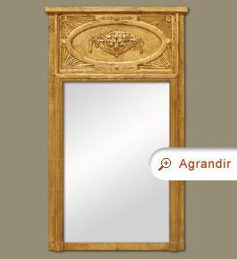 miroir trumeau art nouveau miroirs anciens. Black Bedroom Furniture Sets. Home Design Ideas