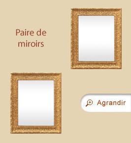 Paire de miroirs anciens dorés 1900