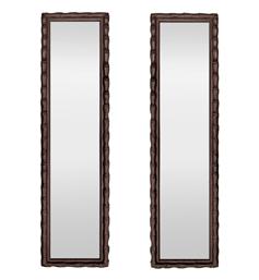 Paire de miroirs anciens style colonial asiatique