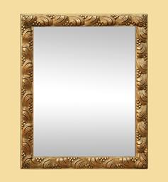 Petit miroir ancien 1900 décor coquillages