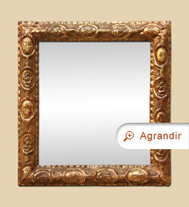 Petit-miroir ancien Louis XVI, fin 18ème, bois doré