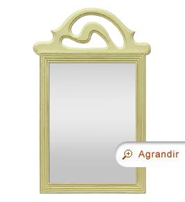 Petit miroir ancien à fronton patiné vert style Art Déco