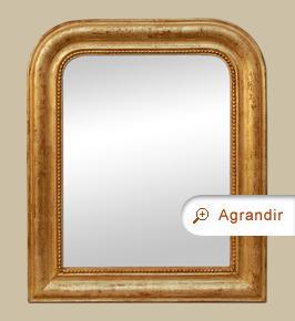Petit miroir ancien bois doré style Louis-philippe
