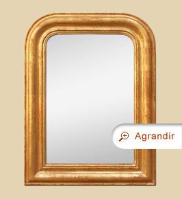 Petit miroir ancien doré moulure style Louis Philippe