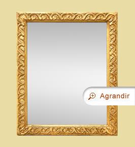 Petit miroir ancien doré à l'or fin d'époque 19ème