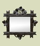 petit-miroir-ancien-en-bois-sculpte-fonce-a-decor-de-feuillages-vi