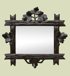 petit-miroir-ancien-en-bois-sculpte-fonce-decor-feuillage-style-art-populaire