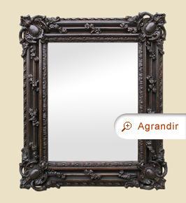 Petit miroir ancien style Louis XIV en carton-pierre