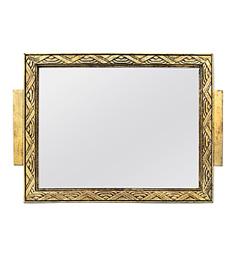 petit-miroir-dore-ancien-art-deco