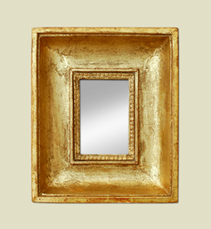 Petit miroir doré époque XIXème