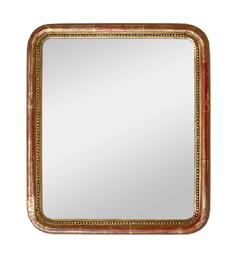 Petit miroir doré époque romantique