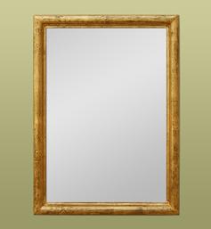 Petit miroir doré cadre mouluré