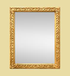 Petit miroir doré à l'or fin d'époque
