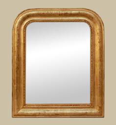 Petit miroir Louis Philippe doré patiné