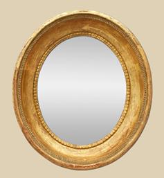 petit-miroir-ovale-dore-19eme-siecle